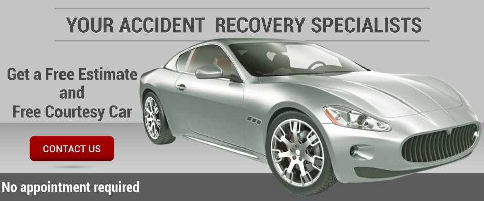 Your Accident Recovery Specialists | Get a Free Estimate and Free Courtesy Car | Contact Us | No appointment required | sports car